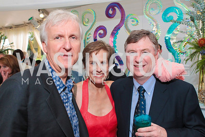 James Cameron, Lisa Trutt, Andrew Wright. Photo by Alfredo Flores. Evening of Exploration. National Geographic Society. June 23, 2011