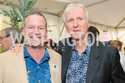James Cameron, Lee Berger. Photo by Alfredo Flores. Evening of Exploration. National Geographic Society. June 23, 2011