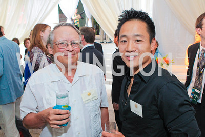 Jonathan Tourtelott, Albert Lin. Photo by Alfredo Flores. Evening of Exploration. National Geographic Society. June 23, 2011