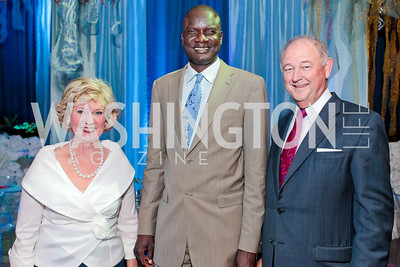 Angui Wells, John Dau, Leo Wells. Photo by Alfredo Flores. Evening of Exploration. National Geographic Society. June 23, 2011