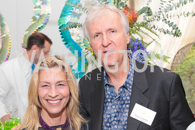 Joy Sterling, James Cameron. Photo by Alfredo Flores. Evening of Exploration. National Geographic Society. June 23, 2011