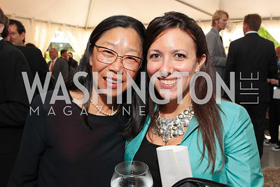 Barbara Wu, Anna Rathmann Photo by Alfredo Flores. Evening of Exploration. National Geographic Society. June 23, 2011