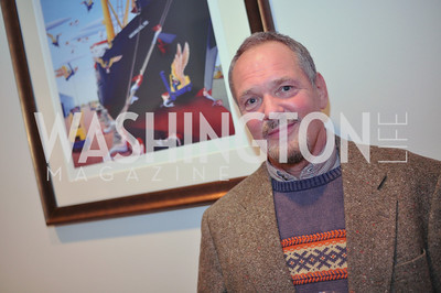 Bill Jonas with Artwork Evers & Co. Art Exhibition, November 17, photo by Ben Droz