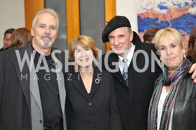 David Burke, Donna Evers, Al Charbonneau, Bonnie Roberts-Burke Evers & Co. Art Exhibition, November 17, photo by Ben Droz