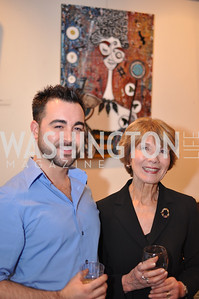 Artist Kreg Kelley and Donna Evers Evers & Co. Art Exhibition, November 17, photo by Ben Droz
