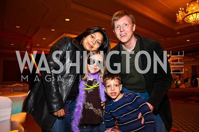 Sonal, Meera, Niall, and Patrick Doran. Every Kid's a Rock Star. Photo by Tony Powell. Ritz Carlton Tysons. February 27, 2011