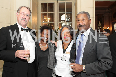 Tom Aida, Taisha Adams, Kaye Savage, Skip McKoy. Friends of Choice in Urban Schools (FOCUS) 15th Anniversary Celebration at Meridian International Center. Photo by Alfredo Flores. April 12, 2011