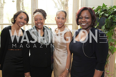 Genee Robinson, Ramona Edelin, Jami Dunham, Kimberly Spriggs. Friends of Choice in Urban Schools (FOCUS) 15th Anniversary Celebration at Meridian International Center. Photo by Alfredo Flores. April 12, 2011