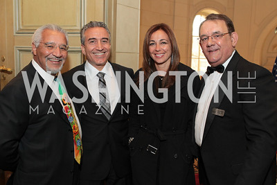 Joe Bruno, Rudy Seikaly, Vicki Seikaly, Jim De Santis. Friends of Choice in Urban Schools (FOCUS) 15th Anniversary Celebration at Meridian International Center. Photo by Alfredo Flores. April 12, 2011