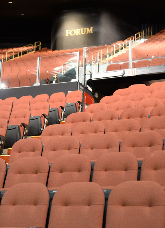""". The new entertainment venue, the \""""Fabulous\"""" Forum in Inglewood has undergone a $100 million renovation, and is set to host the Eagles concert series starting Jan 15. New comfy seats throughout.    (Jan 14, 2014. Photo by Brad Graverson/The Daily Breeze)"""