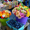 Flowers at Lincoln Square's Greenmarket in Dante Park.