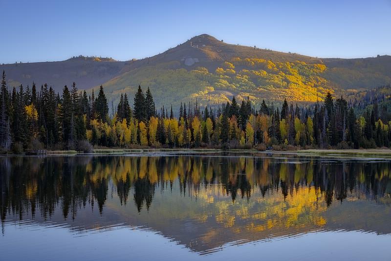 Scott Hill Reflecting in Silver Lake in September