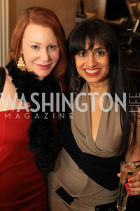 Tania Taylor, Dimple Shah. Fashion Takes Flight 2011 - A Night to Benefit Luke's Wings at The Adams Morgan Mansion. Photo by Alfredo Flores. January 28, 2011.