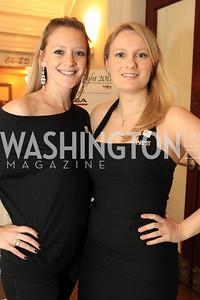 Mackenzie Miles, Judy Mayka. Fashion Takes Flight 2011 - A Night to Benefit Luke's Wings at The Adams Morgan Mansion. Photo by Alfredo Flores. January 28, 2011.