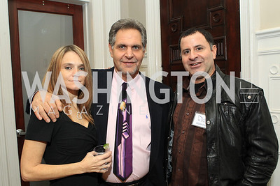 Teresa Levine, Alan Levine, Adam Ishaeik. Fashion Takes Flight 2011 - A Night to Benefit Luke's Wings at The Adams Morgan Mansion. Photo by Alfredo Flores. January 28, 2011.