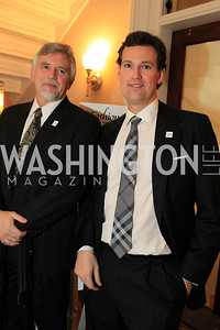 Stan Wood , Fletcher Gill. Fashion Takes Flight 2011 - A Night to Benefit Luke's Wings at The Adams Morgan Mansion. Photo by Alfredo Flores. January 28, 2011.