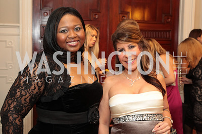 Danielle Jennings, Leslie Magos. Fashion Takes Flight 2011 - A Night to Benefit Luke's Wings at The Adams Morgan Mansion. Photo by Alfredo Flores. January 28, 2011.