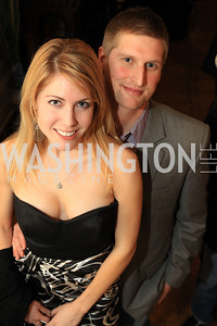 Sherie Schroeder, Josh Schroeder. Fashion Takes Flight 2011 - A Night to Benefit Luke's Wings at The Adams Morgan Mansion. Photo by Alfredo Flores. January 28, 2011.