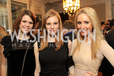 Rachel Ryan, Miranda Frum, Martha Fortune. Fashion Takes Flight 2011 - A Night to Benefit Luke's Wings at The Adams Morgan Mansion. Photo by Alfredo Flores. January 28, 2011.
