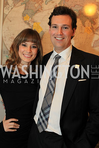 Lindsay Kin, Fletcher Gill. Fashion Takes Flight 2011 - A Night to Benefit Luke's Wings at The Adams Morgan Mansion. Photo by Alfredo Flores. January 28, 2011.