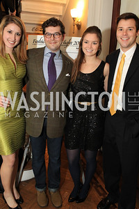 Virginia Borcherdt, Mark Drapeau, Sophie Pyle, Lucien Zeigler. Fashion Takes Flight 2011 - A Night to Benefit Luke's Wings at The Adams Morgan Mansion. Photo by Alfredo Flores. January 28, 2011.