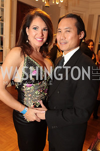 Lisa Spoden, Wilson Chang. Fashion Takes Flight 2011 - A Night to Benefit Luke's Wings at The Adams Morgan Mansion. Photo by Alfredo Flores. January 28, 2011.