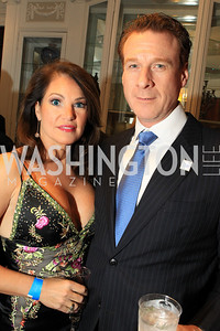 Lisa Spoden, Ken Christensen. Fashion Takes Flight 2011 - A Night to Benefit Luke's Wings at The Adams Morgan Mansion. Photo by Alfredo Flores. January 28, 2011.