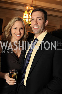 Dayna Elefant, Andre Gawlik. Fashion Takes Flight 2011 - A Night to Benefit Luke's Wings at The Adams Morgan Mansion. Photo by Alfredo Flores. January 28, 2011.