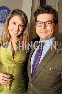 Virginia Borcherdt, Mark Drapeau. Fashion Takes Flight 2011 - A Night to Benefit Luke's Wings at The Adams Morgan Mansion. Photo by Alfredo Flores. January 28, 2011.