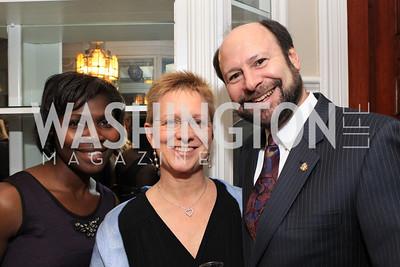 Patricia Brown, Jennifer Sinek, Ron Sinek. Fashion Takes Flight 2011 - A Night to Benefit Luke's Wings at The Adams Morgan Mansion. Photo by Alfredo Flores. January 28, 2011.