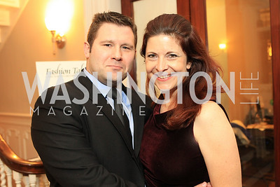 Eric Haversack, Raea Jean Leinster. Fashion Takes Flight 2011 - A Night to Benefit Luke's Wings at The Adams Morgan Mansion. Photo by Alfredo Flores. January 28, 2011.