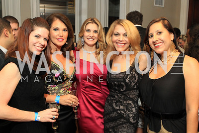 Amanda Colette Deatherage, Lisa Spoden, Lauri Tamney, Wendy Gordon, Donna Donella. Fashion Takes Flight 2011 - A Night to Benefit Luke's Wings at The Adams Morgan Mansion. Photo by Alfredo Flores. January 28, 2011.