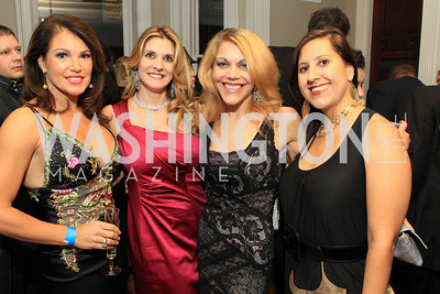 Lisa Spoden, Lauri Tamney, Wendy Gordon, Donna Donella. Fashion Takes Flight 2011 - A Night to Benefit Luke's Wings at The Adams Morgan Mansion. Photo by Alfredo Flores. January 28, 2011.