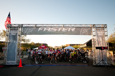 Starting line for the Faster Gran Fondo - 97 mile ride.