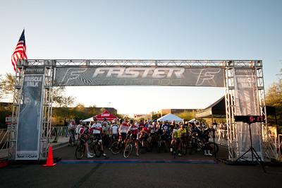Starting line for the Faster Gran Fondo - 97 mile ride.