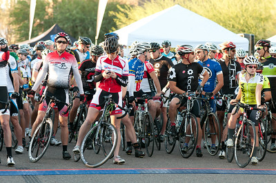 Riders waiting for the pilot car to escort them on start of the 97 mile course.