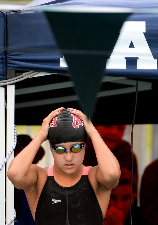 . in the 200 yard IM during the CIF division 2 swimming finals in the Riverside Aquatics Complex at Riverside City College in Riverside, Calif., on Saturday, May 16, 2015.  (Photo by Keith Birmingham/ Pasadena Star-News)