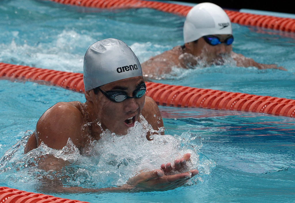 . Redlands East Valley\'s Collin Green finished sixth in the 200 yard IM during the CIF division 2 swimming finals in the Riverside Aquatics Complex at Riverside City College in Riverside, Calif., on Saturday, May 16, 2015.  (Photo by Keith Birmingham/ Pasadena Star-News)