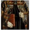 (Missing from CD) Piero della Francesca (1411/13–1492)<br /> Detail of Saint Augustine, 1454–1469<br /> Oil and tempera on poplar panel<br /> 52.4 x 23.8 inches<br /> Museu Nacional de Arte Antiga, Lisbon)