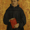 Piero della Francesca (1411/13–1492)<br /> An Augustinian Friar (Saint Leonard?), 1454–1469<br /> Oil and tempera on poplar panel<br /> 15.7 x 11.1 inches<br /> The Frick Collection, New York<br /> <br /> Piero della Francesca (c. 1415 - 1492) <br /> Augustinian Monk, 1454-1469<br /> tempera on poplar panel<br /> 15 3/4 in. x 11 1/8 in. (40.01 cm x 28.26 cm)<br /> Purchased by The Frick Collection, 1950.<br /> Accession number: 1950.1.157