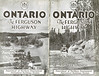 Ontario Ferguson Highway Map 1928. Cover of booklet.