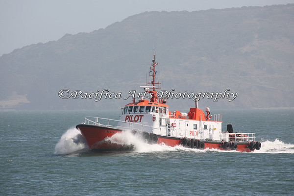 """""""California"""", is a San Francisco Bar Pilot.  This boat meets the incoming ships, boards them, and helps to navigate the vessel into the San Francisco Bay.  This Pilot Boat is 104 feet long,28 feet wide, has a salon, and bunks for up to 8 pilots.  The crews work on rotating watches."""