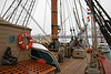 """HMS Bounty"" - on deck, viewing the Bow of the ship."