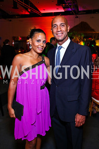 Michelle and Adrian Fenty. Photo by Tony Powell. Fight for Children School Night. Reagan Building. May 6, 2011