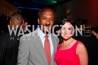 Frank Raines, Denise Grant. Photo by Tony Powell. Fight for Children School Night. Reagan Building. May 6, 2011