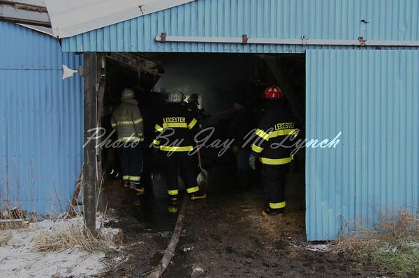Leicester, Cuylerville FD's - Silo Fire - 5853 Gibsonville Rd - December 30, 2005