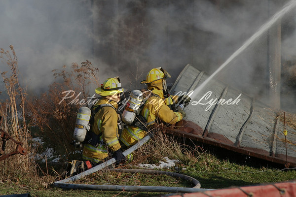 Pavilion FD - Barn Fire - 10551 Cook Rd - November 19, 2005