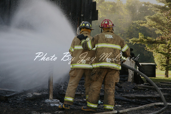 York, Retsof FD's - House Fire - 1859 Macintyre Rd - September 28, 2005