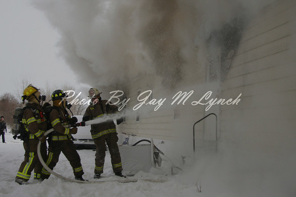 Elba FD - Trailer Fire - 6920 Transit Rd - January 31, 2011