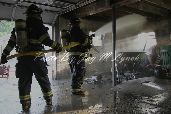 Geneseo FD - Barn Fire - 4154 North Rd - June 19, 2011